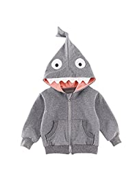 Kanodan Baby Boys Shark Outerwear Jacket Toddler Hooded Autumn Sweatshirt 1-4Years