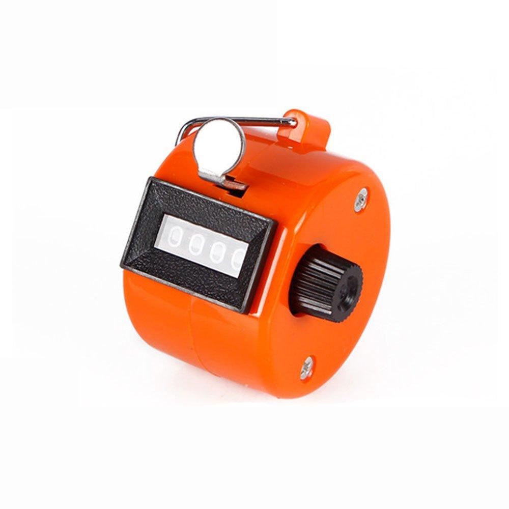 nicedier-tech manuale contatore, tenuto in mano del contatore a 4 cifre Palm clicker contatore meccanico per sport Cook Standard orange tenuto in mano del contatore a 4cifre Palm clicker contatore meccanico per sport Cook Standard orange