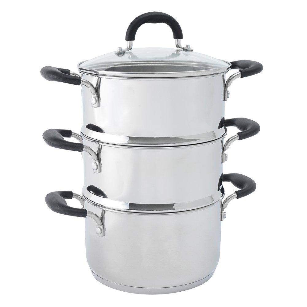 ProCook Gourmet Stainless Steel | Fleischtopf & Dämpfeinsatz | mit Deckel | Edelstahl | induktionsgeeignet | Set | 20cmØ | ein Einsatz