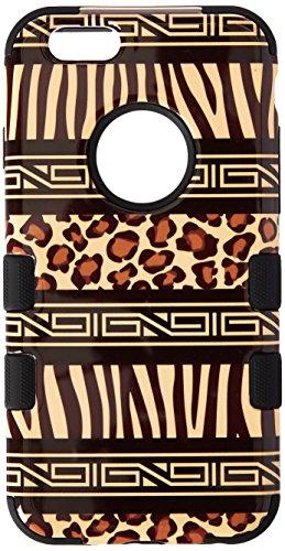 Asmyna Apple iPhone 6 TUFF Hybrid Phone Protector Cover  - Retail Packaging - Zebra Skin-Leopard - Skin Leopard Mybat