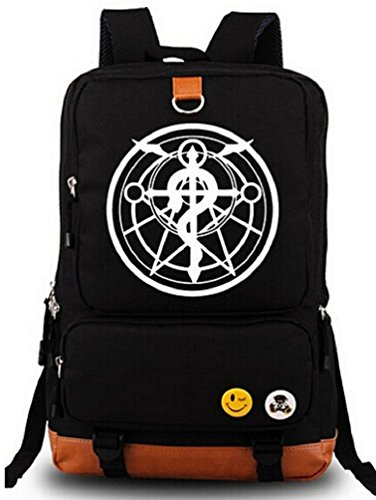 Siawasey® Fullmetal Alchemist Anime Cartoon Cosplay Shoulder Bag Backpack School Bag