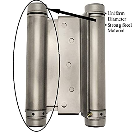 6u0026quot; Double Action Spring Hinge Satin Chrome for Swinging Doors | Saloon Doors | Café  sc 1 st  Amazon.com & 6