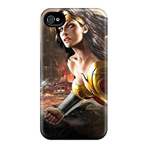 Top Quality Rugged Wonder Woman Dc Universe Online Case Cover For Iphone 4/4s by icecream design