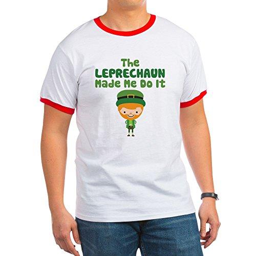 CafePress - Leprechaun Made Me - Ringer T-Shirt, 100% Cotton Ringed T-Shirt, Vintage Shirt Red/White ()