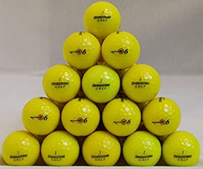 24 Bridgestone E6 5A Yellow Golf Balls