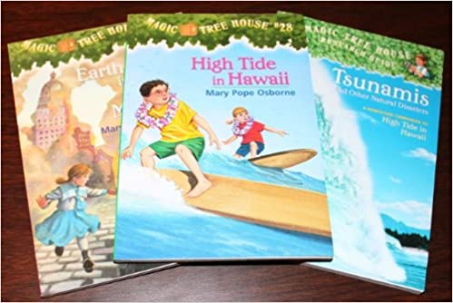 3 Book Set Magic Tree House 28 24 And Research Guide High Tide In