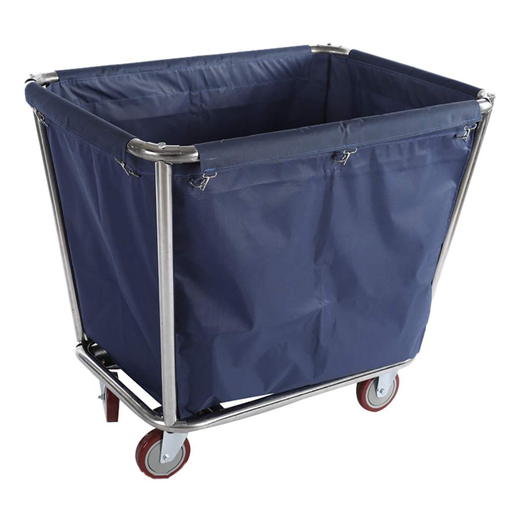 Hotel Cart, Stainless Steel Thick Linen car Hotel Hotel Room Cleaning Hand Push Work car (Color : A)