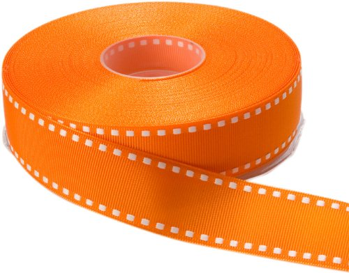 1 Yard Grosgrain Ribbon - May Arts 1-Inch Wide Ribbon, Orange Grosgrain