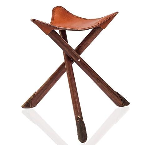 Amazon.com: denzihx Vintage portátil trípode taburete, silla ...