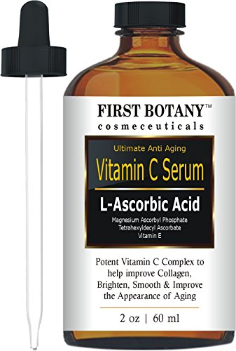 . oz with L'Ascorbic Acid - Facial Skin Care & Anti Aging Serum That Helps Skin Brightening, Repair Sun Damage, Fade Age Spots, Dark Circles, Wrinkles & Fine Lines (1st Wrinkle Serum)