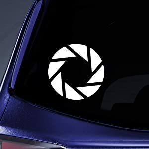 "Bargain Max Decals - (2X) Pack Aperture Science Portal - Sticker Decal Notebook Car Laptop 3"" (White)"