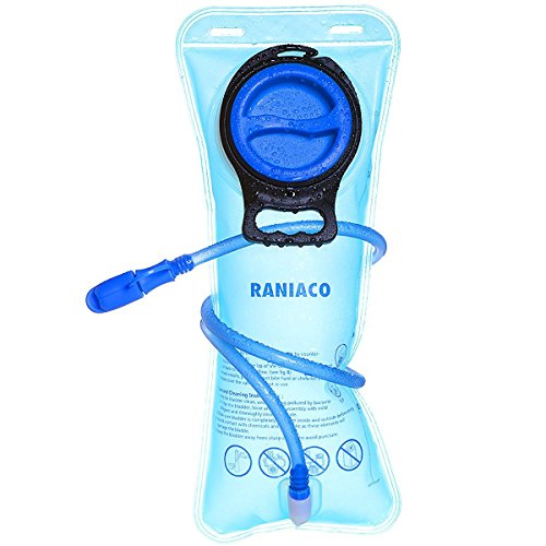 RANIACO Portable 2 Liter Hydration Bladder , Sports Water Bladder for Outdoor Use – Blue