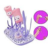 Bottle Drying Rack,Baby Bottle Dryer Rack bpa Free,Dryer Racks for Infant Bottles (Purple)