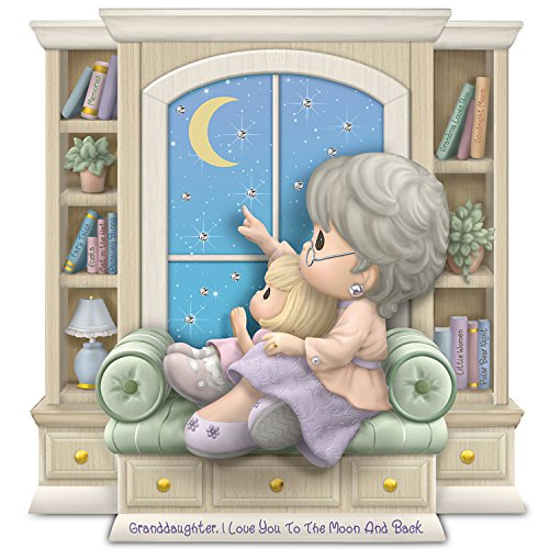 Hamilton Collection Precious Moments (Precious Moments Granddaughter, I Love You To The Moon And Back Figurine by The Hamilton Collection)