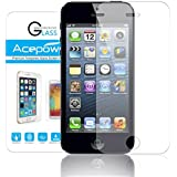 iPhone 5S Screen Protector, ACEPower Premium Tempered Glass Screen Protector for Apple iPhone 5 5S 5C (Lifetime No-Hassle Warranty)