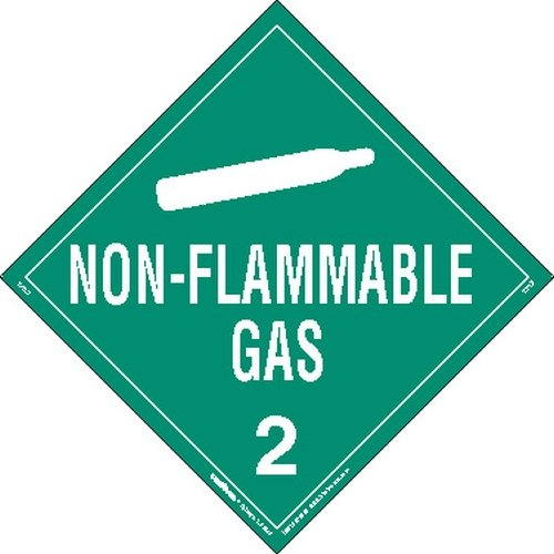 Tagboard Worded Pack of 25 Labelmaster Z-PL3 Non-Flammable Gas Hazmat Placard