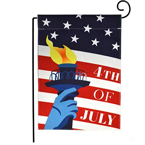 "Dreamlevel Happy Independence Day Garden Flag, 12.5"" x 18"" D"