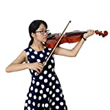 ammoon Full Size Solid Maple Viola with Case Bow