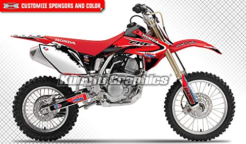Custom Graphics Full Kit For Honda CRF 150 R 2007-2018 RAPID style stickers