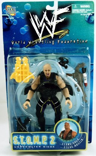 WWF - S.T.O.M.P. 2 - Underwater Siege - Stone Cold Steve Austin figure (Mask Stone Steve Austin Cold)