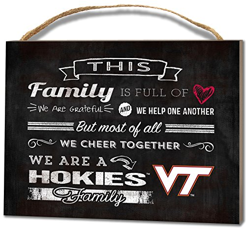 Virginia Tech Family Cheer Wall Plaque