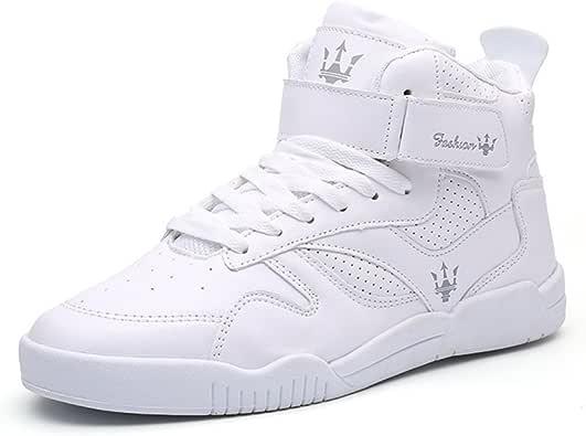 MUOU Zapatos de hombre de moda, zapatos planos, zapatos de tacón alto para el tiempo libre