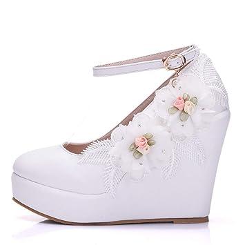 design intemporel 8dbb4 1ecc3 YAN Chaussures de Printemps Automne Chaussures compensées PU ...