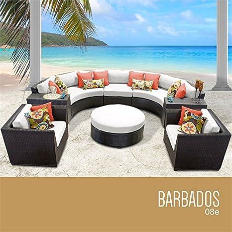 TKC Barbados, juego de 8 sofás de mimbre para patio, color ...