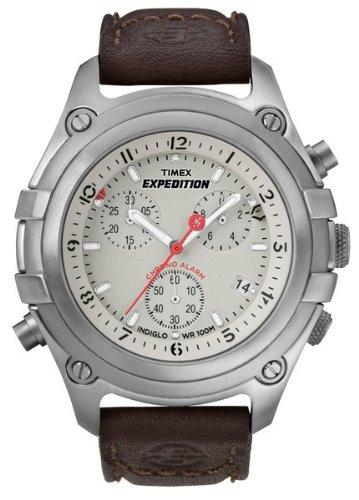 Timex Expedition Chrono con Easy Set Alarm T49747 - Reloj de caballero de cuarzo, correa