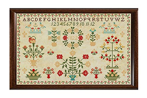 - Antique 1822 Dutch Sampler Reproduction Cross Cross Stitch Counted Chart PDF on CD Unique Easy to Make Vintage English Embroidery Needlepoint European Netherlands Holland