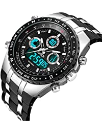 Mens Black Watches Big Face Watch Men's Sport Watch for...