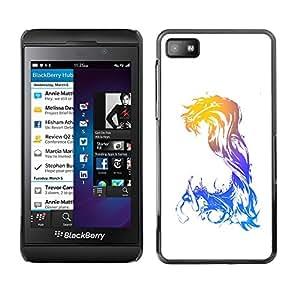 Be-Star Único Patrón Plástico Duro Fundas Cover Cubre Hard Case Cover Para Blackberry Z10 ( Abstract Neon Glow )