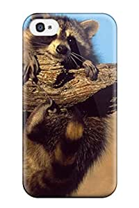 Justin Landes's Shop Fashion Protective A Raccoon Hanging On A Branch Case Cover For Iphone 4/4s 3488300K51396826