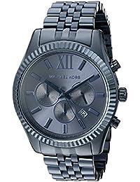 Michael Kors Men's Quartz Stainless Steel Automatic Watch, Color:Blue (Model: MK8480)