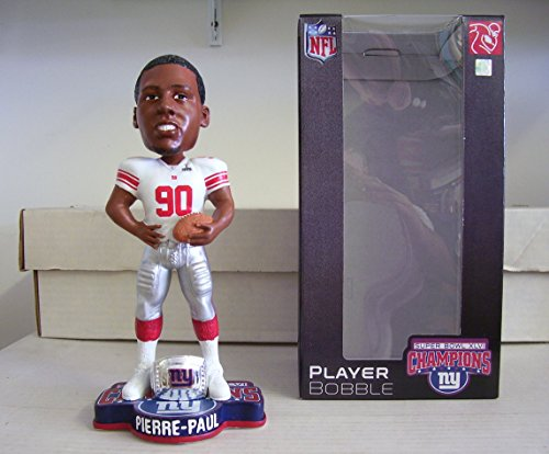 FOCO NFL New York Giants Super Bowl XLVI Champions Ring Bobble, J. (Pierre Ring)