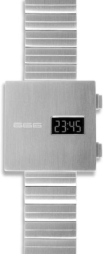 666Barcelona Reloj Hombre Unisex de Digital con Correa en Acero Inoxidable 666-150
