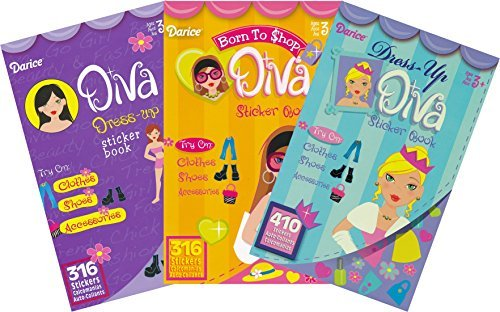(Fashion Diva Dress Up and Shopping Sticker Books for Kids - 3 Books over 1000)