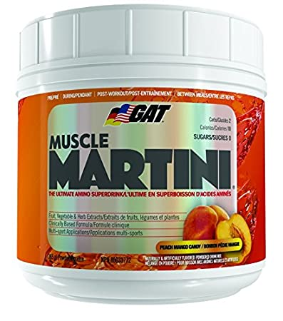 GAT Muscle Martini The Ultimate Amino Super Drink With 30 Fruit And Vegetable Extracts Peach Mango