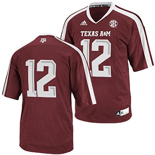NCAA Texas A&M Aggies Men's Replica Football Jersey (Maroon, X-Large)