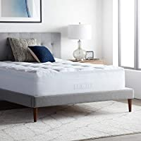 LUCID 4 Inch Down Alternative and Gel Memory Foam Mattress Topper - Three Toppers In One - Full