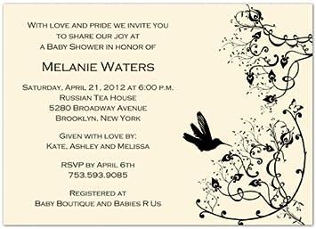 Amazon modern hummingbird on beige baby shower invitations modern hummingbird on beige baby shower invitations set of 20 filmwisefo