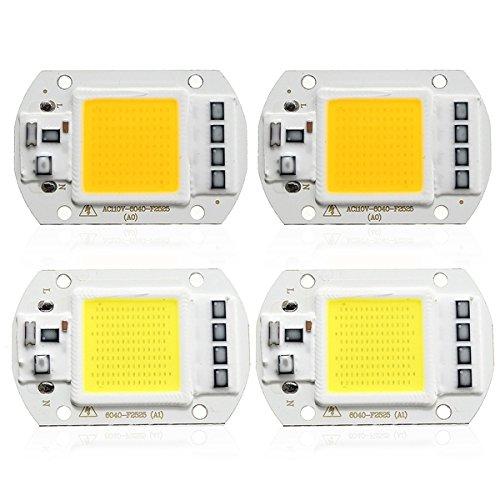 JCHUNL 1X 5X 10X 50 Watt 4200LM Warm Weiß DIY COB LED Chip Birne Perle 60x40mm Für Flutlicht AC110   220V New Hot (Farbe   10pcs Voltage 220V Warm Weiß)