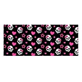 Gold Happy Zombine Punk Skull Print Stair Tread Mat Home Decorative Balcony Indoor Stairs Carpet Non Slip Rubber Stairway Step Rug