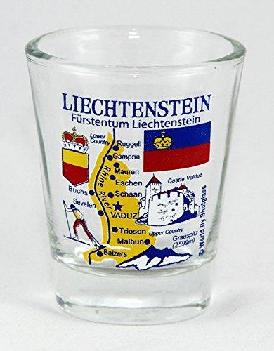 Liechtenstein Landmarks and Icons Collage Shot Glass