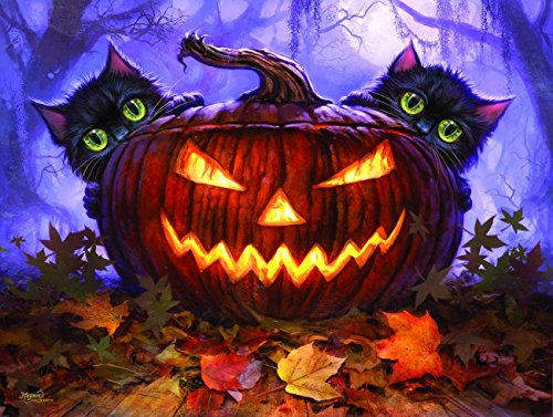Scardy Cat Jack-O-Lantern 300 Piece Jigsaw Puzzle by SunsOut