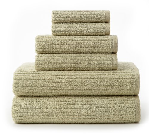 Cotton Craft - Quick Dry 6 Piece Towel Set, Pale Willow - Rapid Drying Energy Efficient - Pure Cotton Super Soft and Absorbent Zero Twist Yarns - Each set contains 2 Bath Towels 27x52, 2 Hand Towels 16x26, 2 Wash Cloths 12x12 - Also Available - 2 Pack - Bath Towels 27x52, 2 Pack - Hand Towels 16x26, 4 Pack - Wash Cloths 12x12 - Other Colors - White, Ivory, Red Spice, Arona Blue, Toffee and Chocolate - Easy care machine wash ideal for every day use