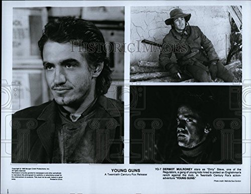 Vintage Photos Historic Images 1988 Press Photo Dermot Mulroney Actor Young Guns Action Adventure Movie Film