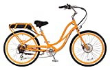 "Pedego Comfort Cruiser 26"" Step Thru Orange with White Wall Tires 36V 15Ah"