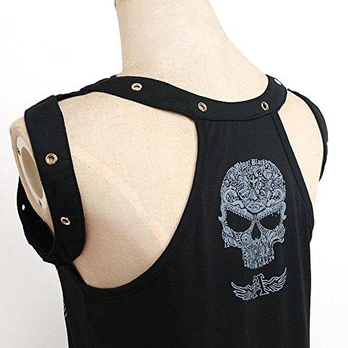 Confort Con Mujer Cuello De Estampada Ropa Black 13 Y Sin V Top Transpirable Camisetas Vendaje Bazhahei Esmalte Blusa Camis Chaleco En Mangas Estampado vxzwAA