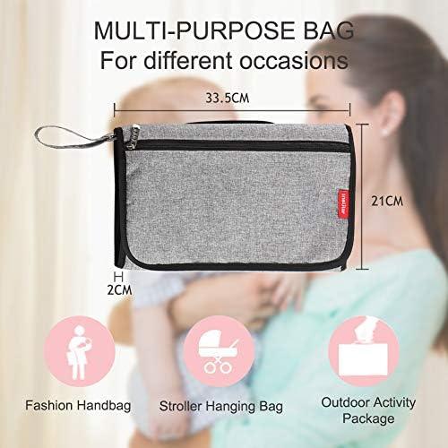 Elefante 50x70cm Estera de Cambio de Pa/ñales para Beb/és Mat de Viaje Portable Bolsa Impermeable